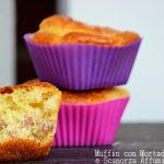 Muffin con mortadella e scamorza affumicata