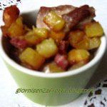 Bocconcini di pollo con patate e pancetta