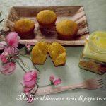 Muffin al limone e semi di papavero