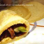 Pancake di ceci con verdure di primavera alla soya