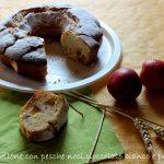 Ciambellone con pesche noci,cioccolato bianco e prosecco