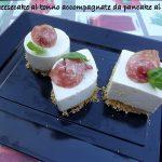 Mini cheesecake al tonno e pancake ai fagioli