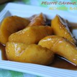 Pesche caramellate all'aceto balsamico