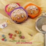 Muffin al mou con smarties