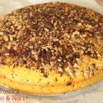 Torta rustica con noci e cioccolato