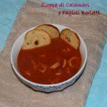 Zuppa di calamari e fagioli