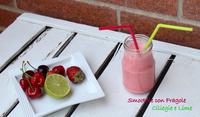 smoothie fragole lime ciliegie