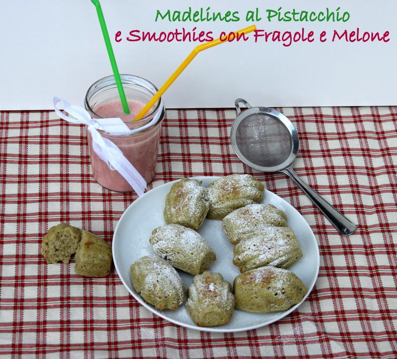 smoothie alle fragole e madeline alle fragole