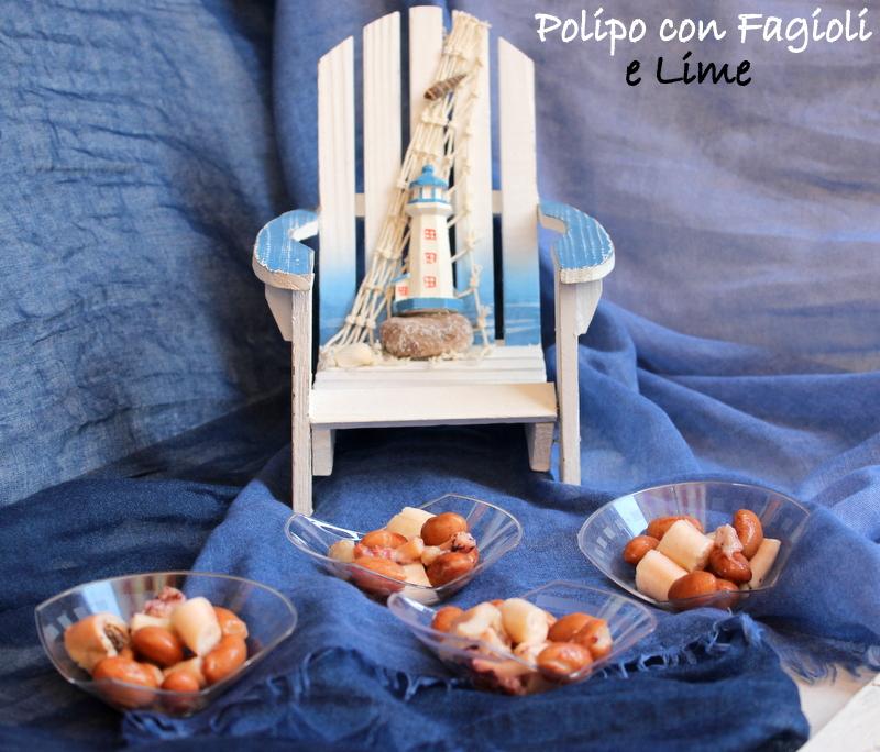 Polipo con fagioli e lime