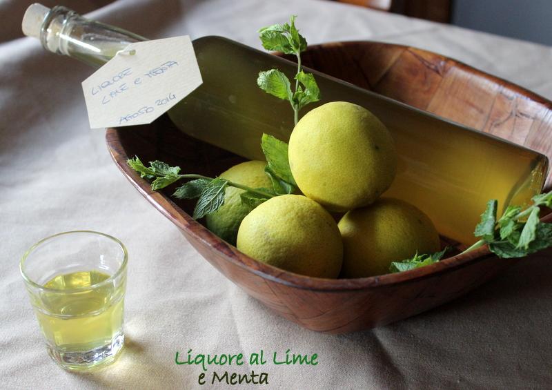 liquore lime e menta