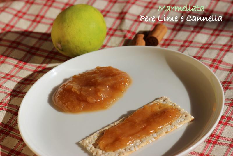 marmellata pere lime e cannella