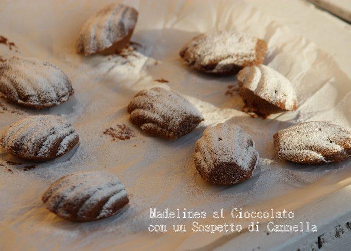 madeline al cioccolato e cannella