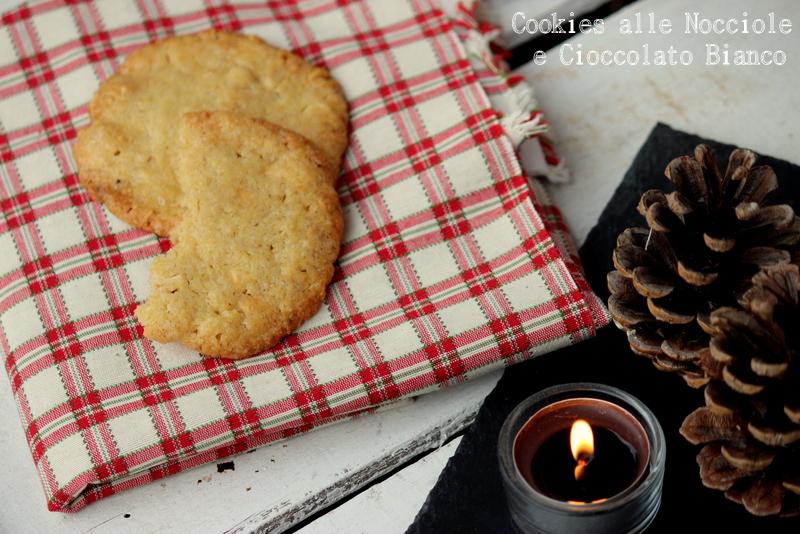 cookies alle nocciole e cioccolato bianco