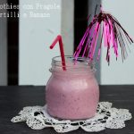Smoothies fragole,mirtilli e banana