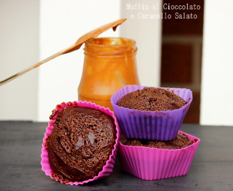 muffin cioccolato e caramello salato