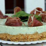 Cheesecake salata alla rucola