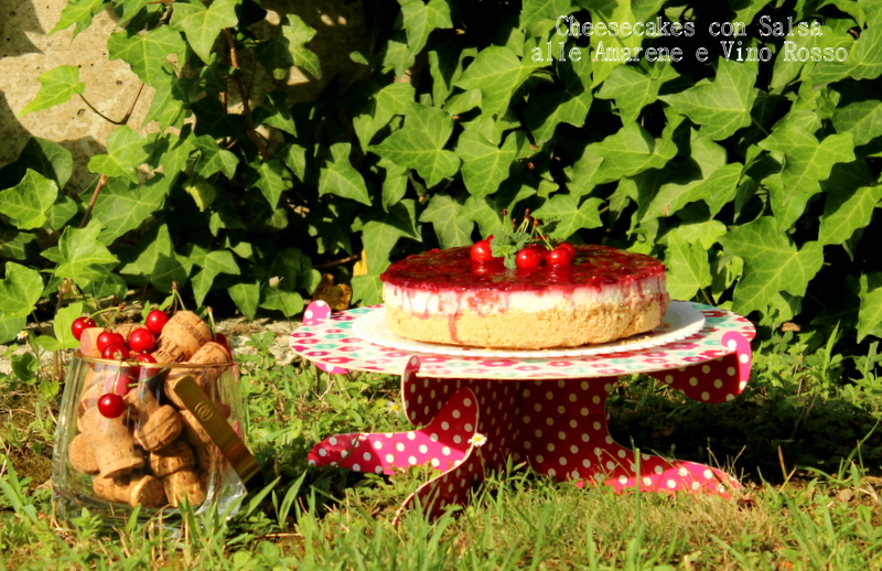 cheesecake con salsa alle amarene