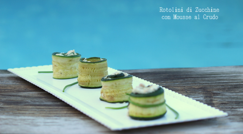 zucchine con mousse al crudo
