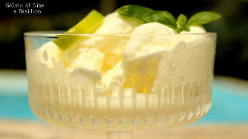 gelato lime e basilico