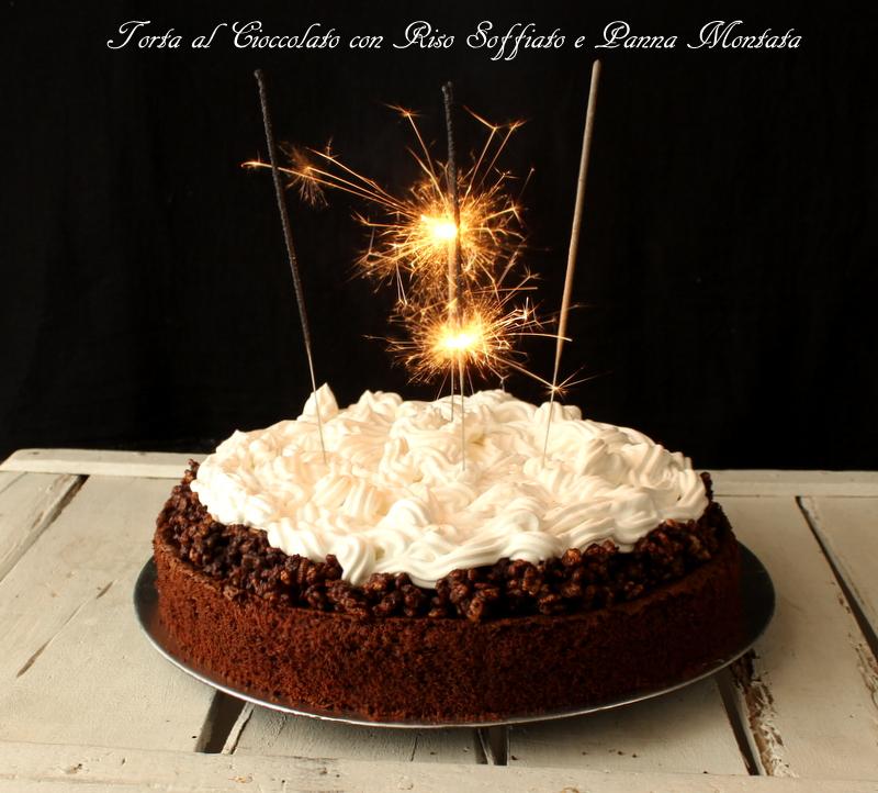 torta cioccolato e panna montata