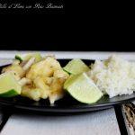 Straccetti di pollo al lime con riso basmati