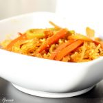 Noodles con verdure speziate