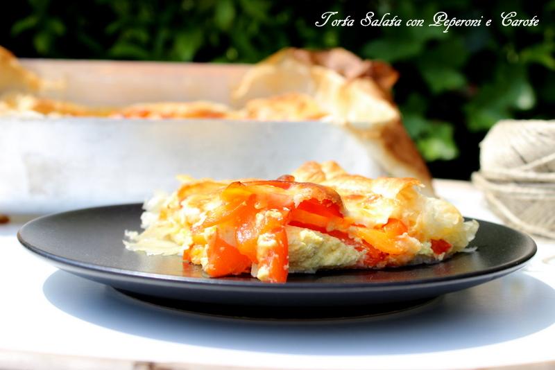 torta salata peperoni e carote