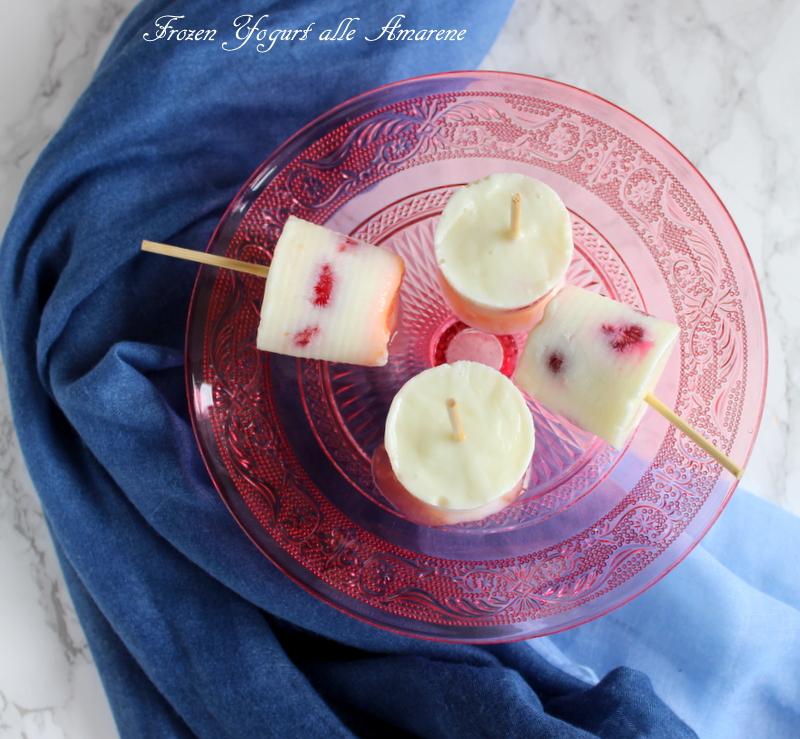 frozen yogurt alle amarene