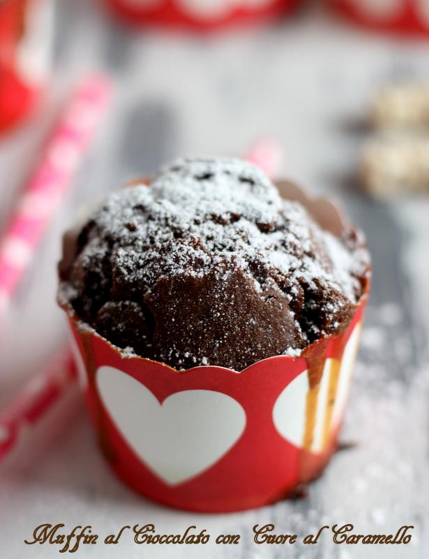 muffin al caramello e cacao