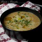 zuppa fagioli patate e pancetta