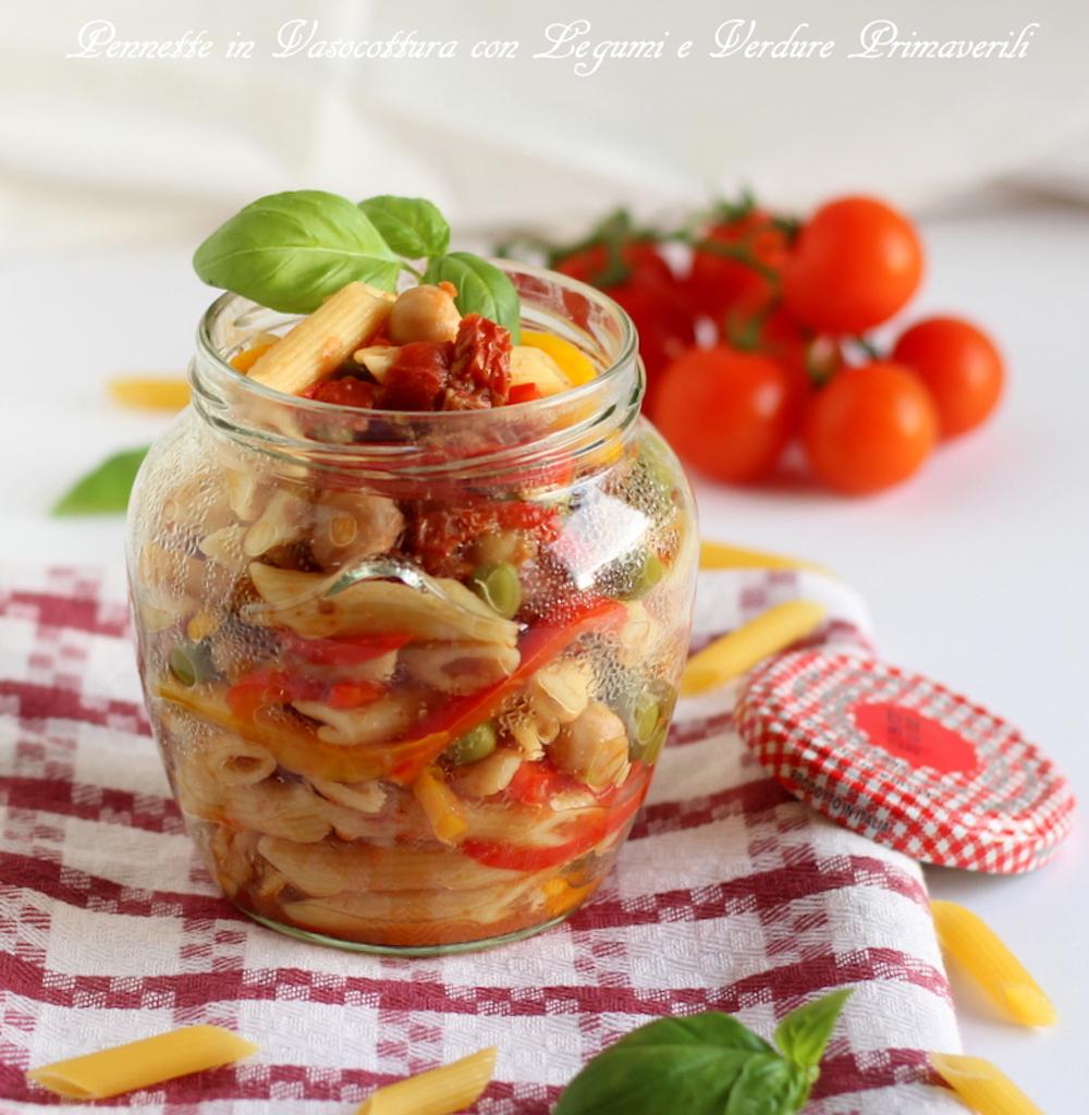 pasta in vasocottura con legumi e verdure