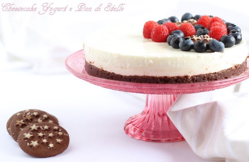 cheesecake con Pan di Stelle e yogurt