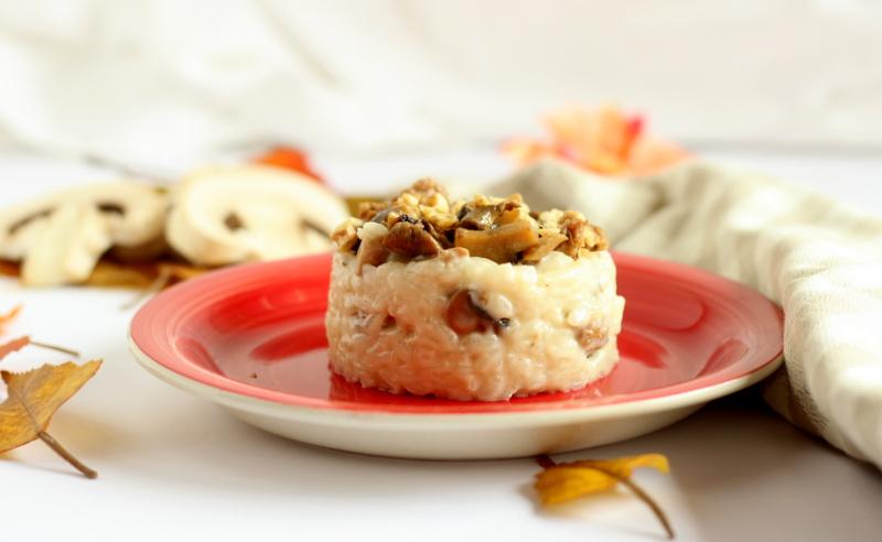ricetta per risotto con salsiccia e funghi