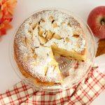 torta di mele e uvetta light