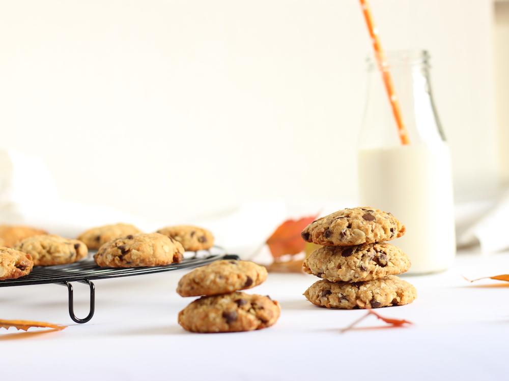 biscotti all'avena e gocce di cioccolato