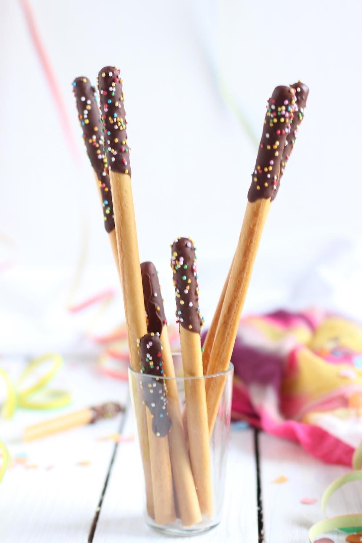 Grissini ricoperti di cioccolato