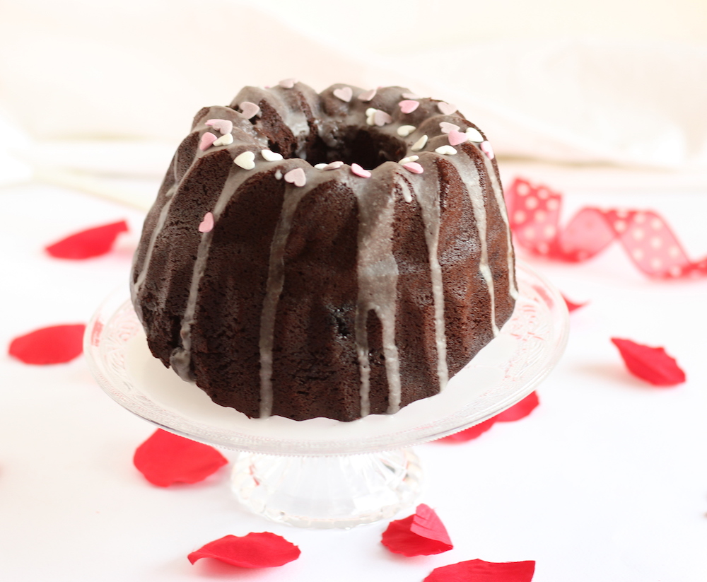 bundt cake cioccolato e frutti rossi