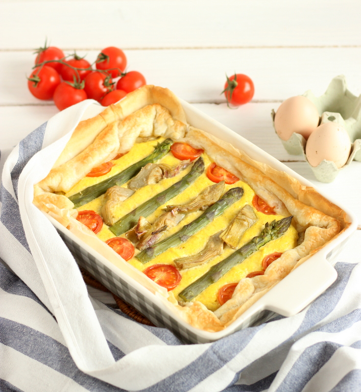 ricetta torta salata asparagi e carciofi