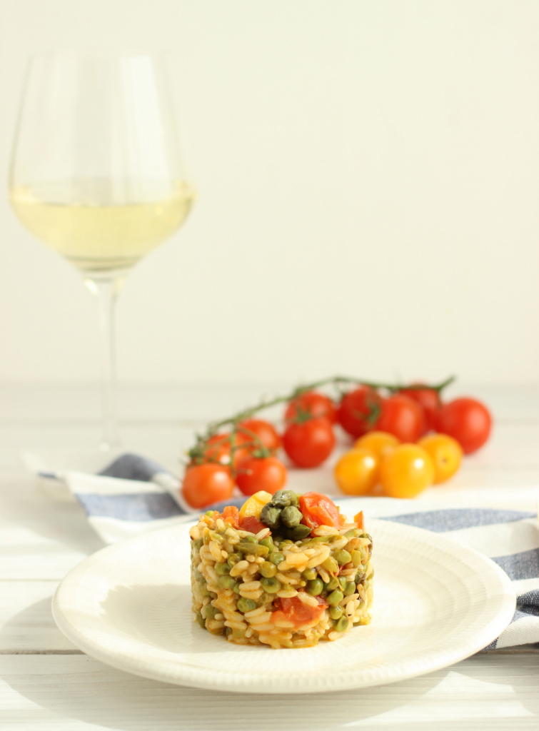 risotto con piselli e asparagi