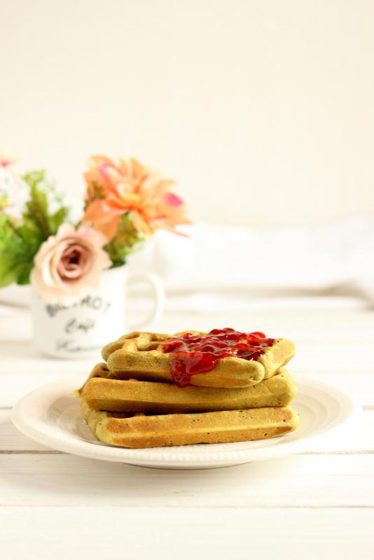 waffle al te matcha