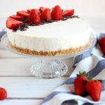 Cheesecake allo yogurt greco con panna e fragole e il primo #saygoodraduno