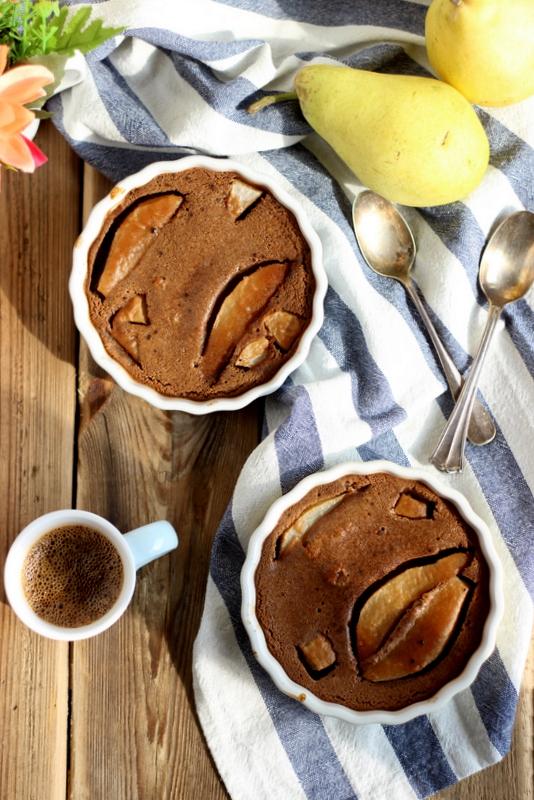 ricetta facile con pere e cioccolato