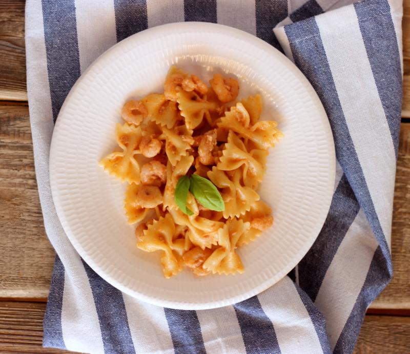 ricetta facile primo piatto con gamberetti