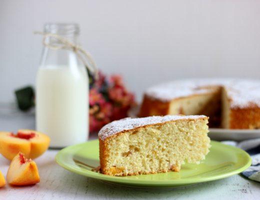 ricetta torta con pesche