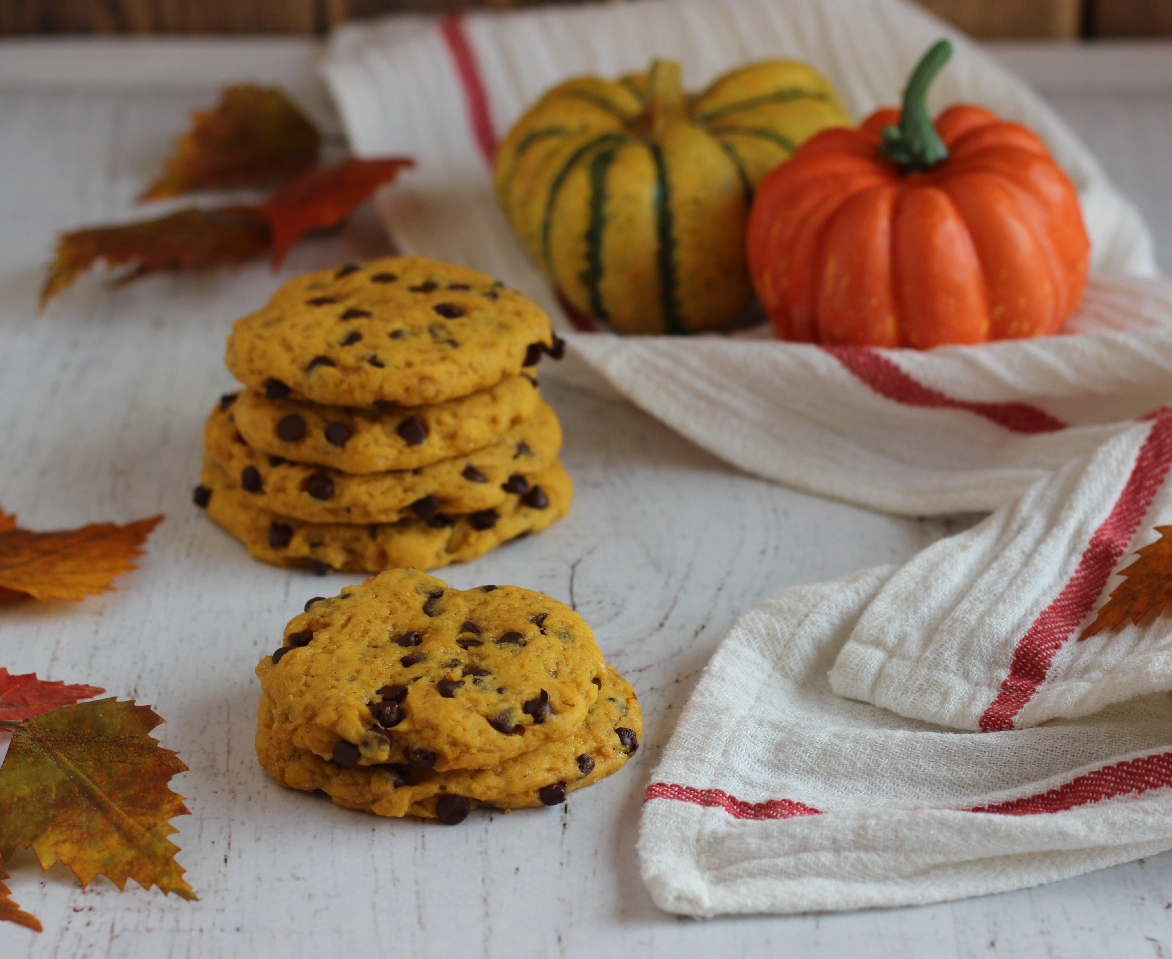 biscotti zucca e gocce di cioccolato