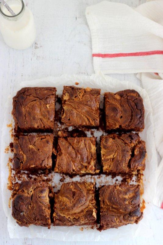 brownies cioccolato e burro d'arachidi
