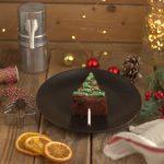 Brownies natalizi: alberi di Natale