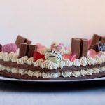 Cream tart con frolla sablèe al cacao e crema al pistacchio