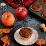 Muffin alle mele cacao e vino rosso