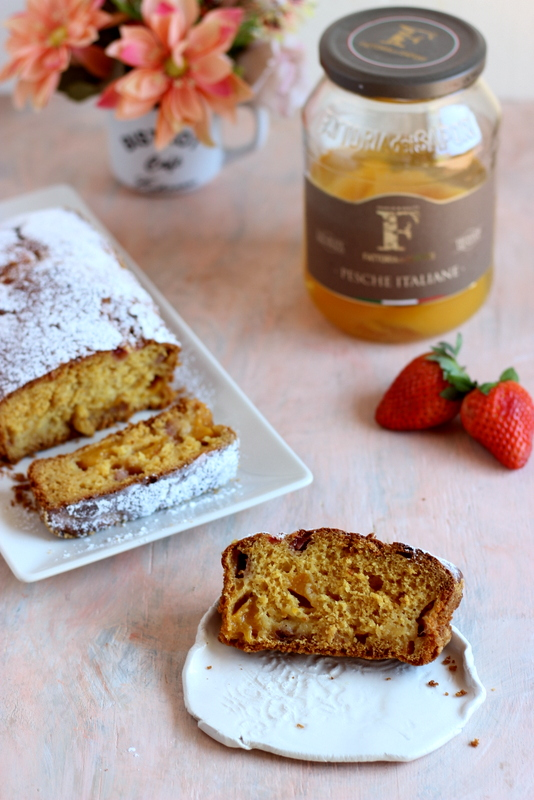 plumcake-fragole-e-pesche